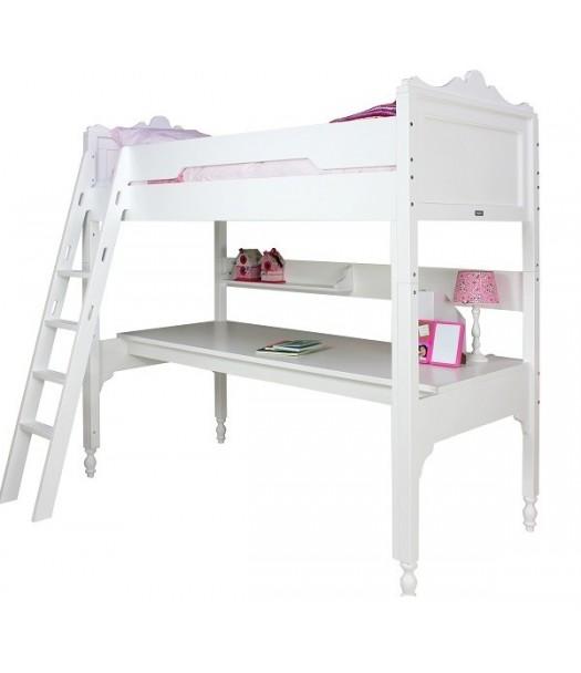 Alto letto a soppalco belle bianco bopita cameretta di pippi - Letto soppalco con scrivania ...