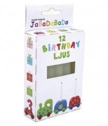 Candeline per trenino di compleanno JaBaDaBaDo
