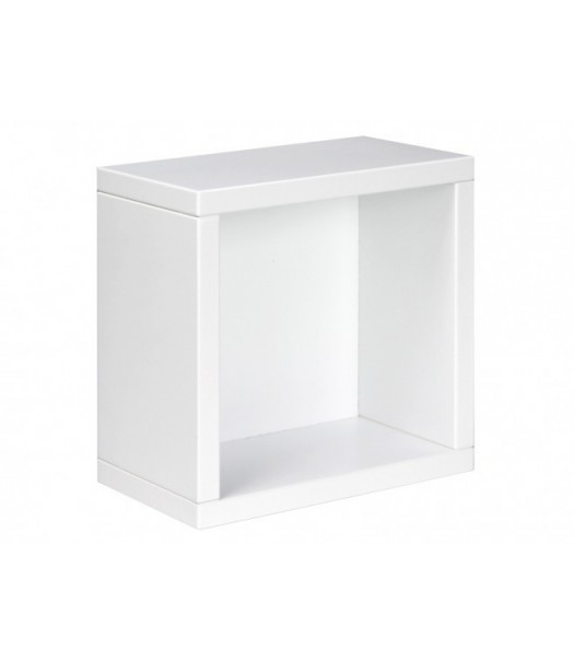 Mensola a cubo bianca bopita la cameretta di pippi for Mensola bianca lucida