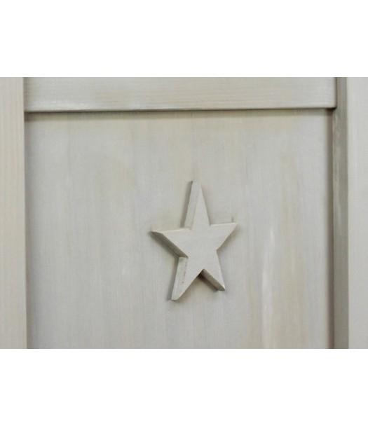 Culla stella legno naturale bopita cameretta di pippi - Camerette bambini legno naturale ...