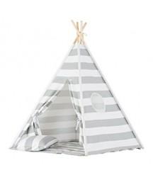 Tenda Tepee a Righe Grigie