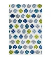 Tappeto Bianco con Quadrifogli Multi Color
