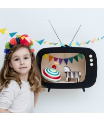 Mensola a TV Nera
