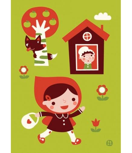 Poster cappuccetto rosso 50x70