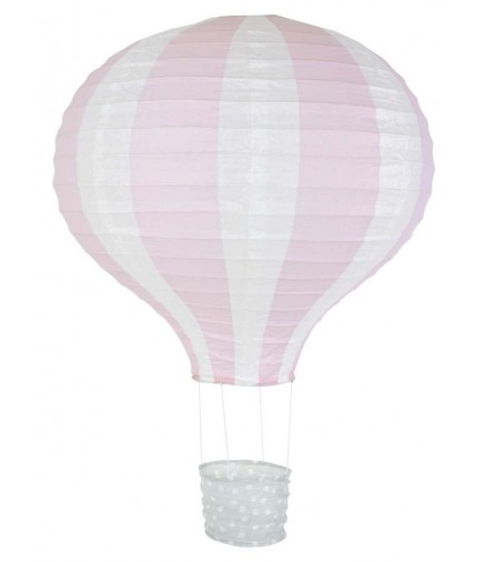 Lampadario mongolfiera rosa