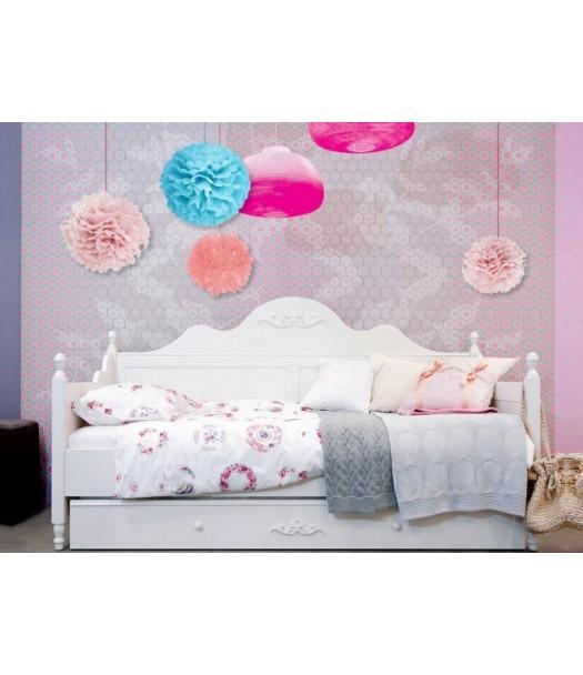 Divano letto in legno 90x200 cm romantic bopita - Divano letto per cameretta ...