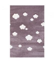Tappeto Malva a Nuvole Bianche