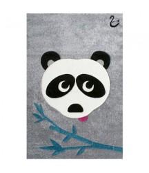 Tappeto Grigio con Panda