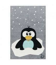 Tappeto Grigio con Pinguino