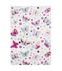 Tappeto Bianco con Farfalle