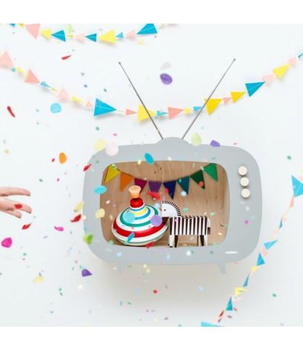 Mensola a TV Grigia