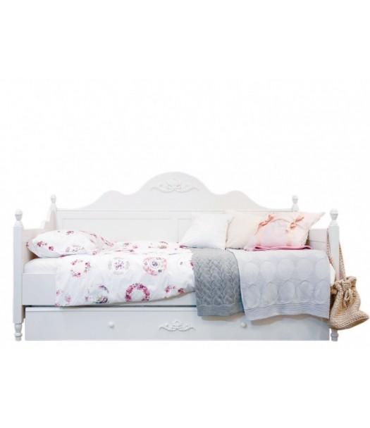 Divano letto in legno 90x200 cm romantic bopita for Divano 90 cm
