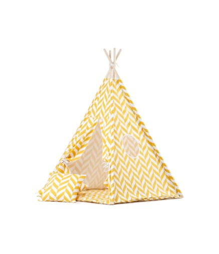 Tenda Tepee Chevron Giallo