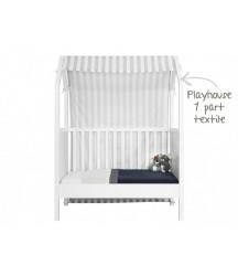Tenda per Culla My First House Bianco/Grigio 60X120 cm Bopita