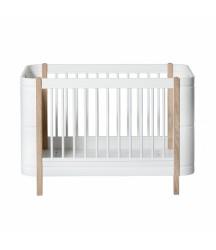 Culla 5 in 1 Mini+ Wood Bianco e Legno Oliver Furniture