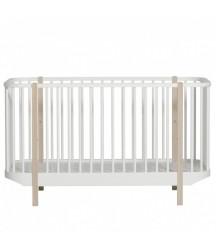 Lettino Trasformabile Wood Oliver Furniture Bianco e Rovere